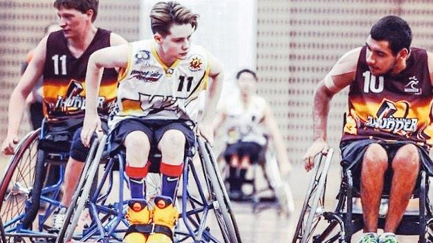 Robyn Lambird at the 2014 Junior National Wheelchair Basketball Championships